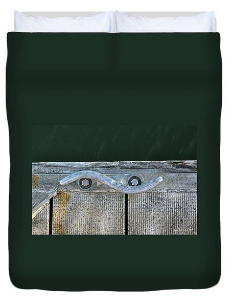 Cleat On A Dock Duvet Cover
