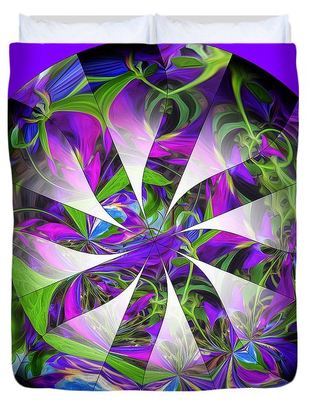 Clematis Colors-1 Duvet Cover by Nancy Marie Ricketts