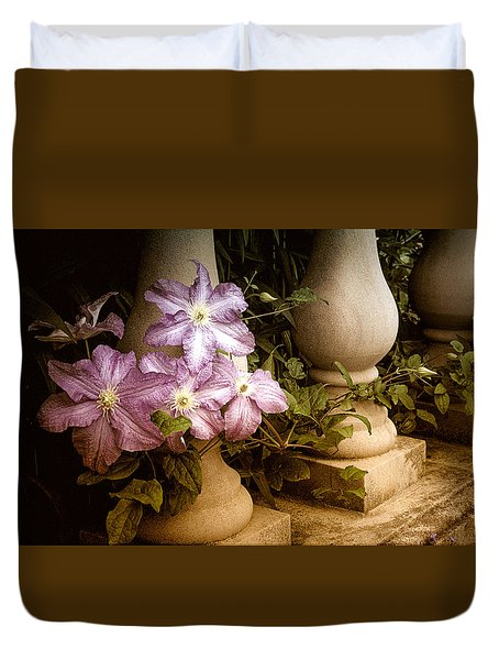 Clematis In The Garden Duvet Cover