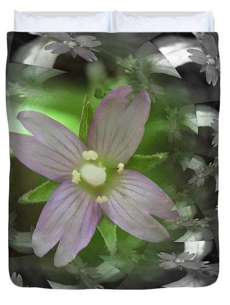 Clematis Duvet Cover by Keith Elliott