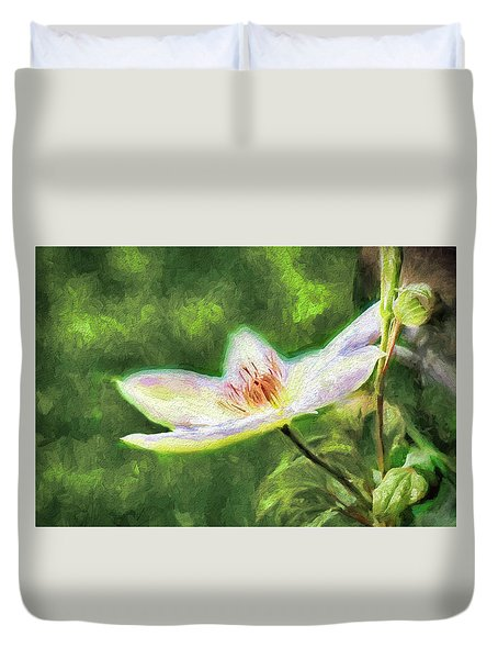Clematis Study Duvet Cover