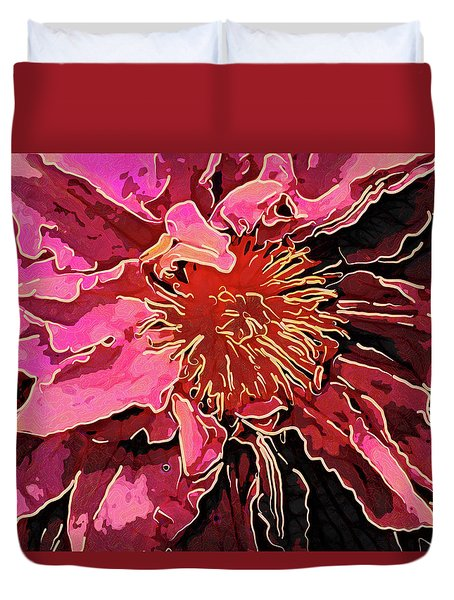 Clematis Up Close And Personal Duvet Cover