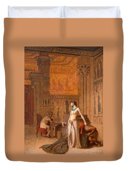 Cleopatra And Caesar Painting By Jean Leon Gerome