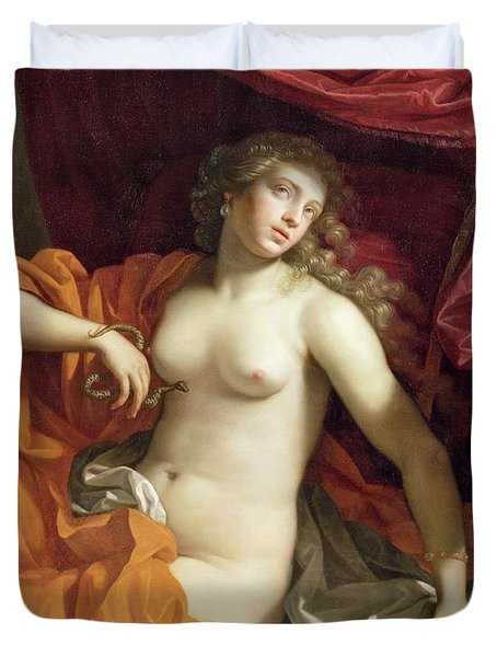 Cleopatra Duvet Cover by Benedetto the Younger Gennari