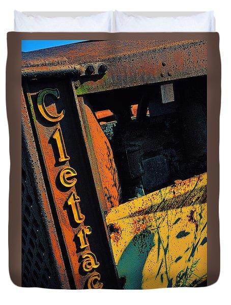 Cletrac Crawler Tractor Duvet Cover