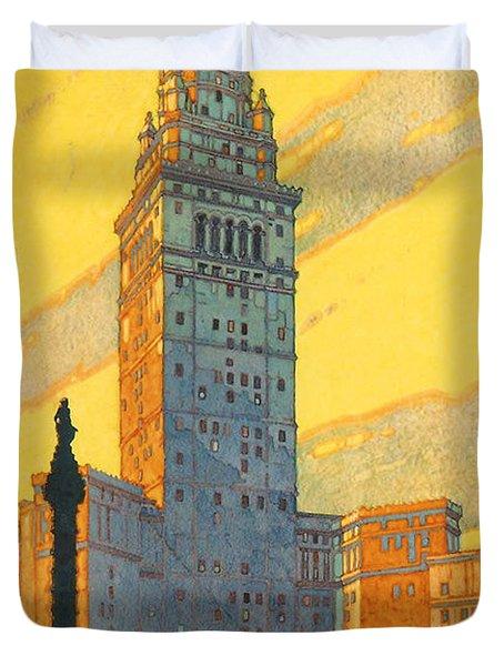 Cleveland - Vintage Travel Duvet Cover
