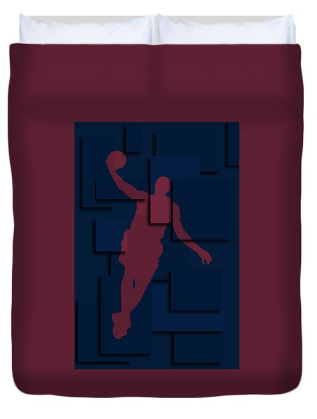 Cleveland Cavaliers Lebron James 2 Duvet Cover by Joe Hamilton