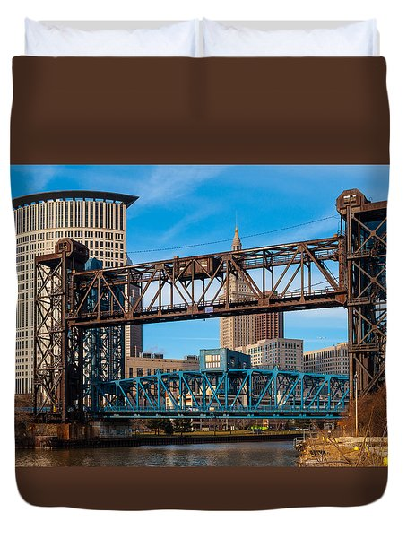 Cleveland City Of Bridges Duvet Cover