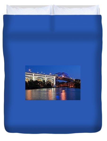 Cleveland Colored Bridges Duvet Cover