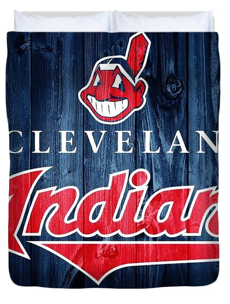 Cleveland Indians Barn Door Duvet Cover