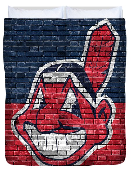 Cleveland Indians Brick Wall Duvet Cover