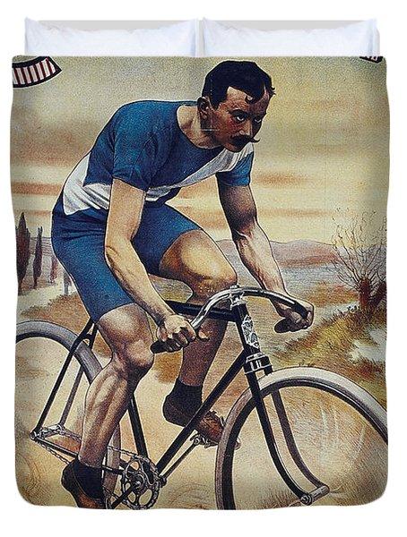 Cleveland Lesna Cleveland Gagnant Bordeaux Paris 1901 Vintage Cycle Poster Duvet Cover
