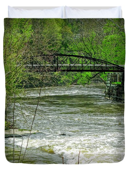 Cleveland Metropark Bridge Duvet Cover