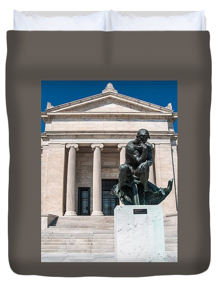 Cleveland Museum Of Art, The Thinker Duvet Cover