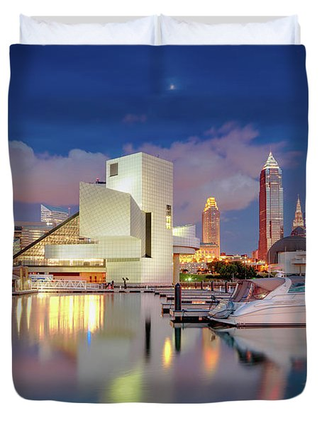 Duvet Cover featuring the photograph Cleveland Ohio 2  by Emmanuel Panagiotakis