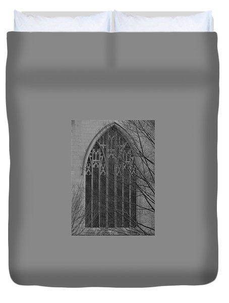 Cleveland Ohio Church Window Duvet Cover
