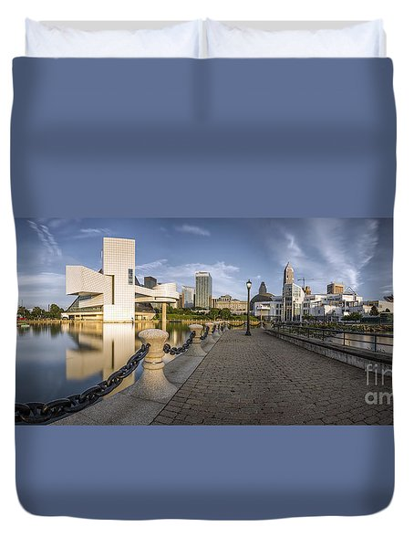 Cleveland Panorama Duvet Cover by James Dean