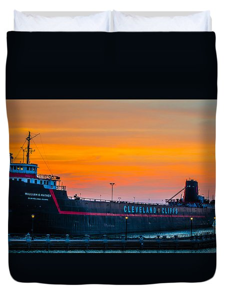 Cleveland Sunset Duvet Cover