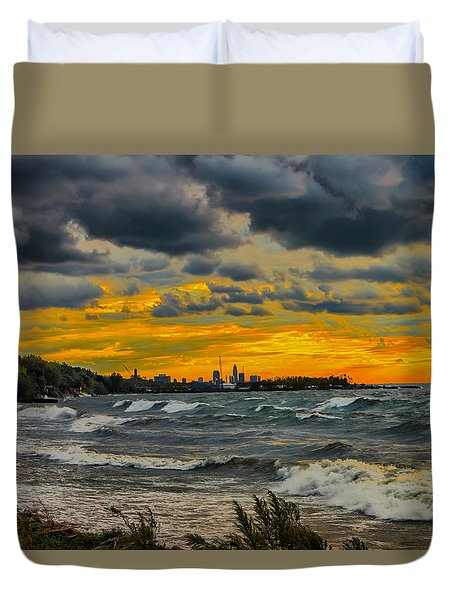 Cleveland Waves Duvet Cover