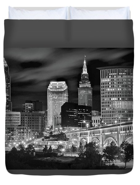 Charcoal Night  Duvet Cover