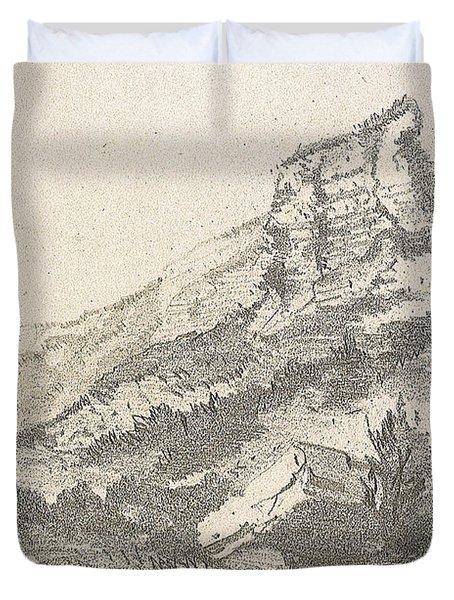 Cliff At Sainte Adresse Duvet Cover