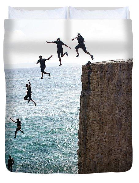 Cliff Diving Duvet Cover