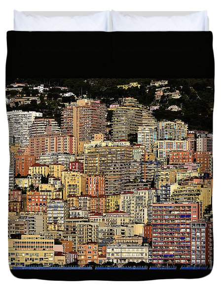 Cliff Dwellers Of Monte Carlo Duvet Cover