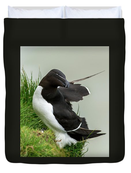 Cliff Edge 2 Duvet Cover by Nigel Wooding