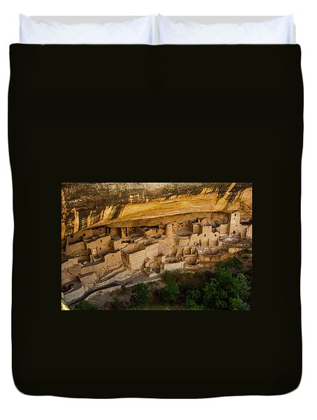 Cliff House From Above Duvet Cover