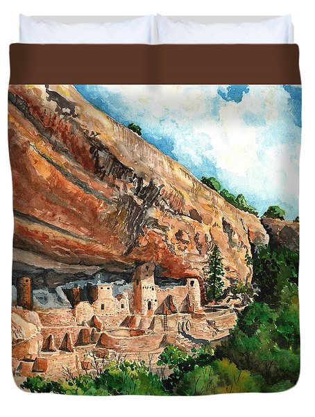 Cliff Palace Mesa Verde Duvet Cover