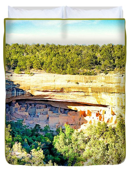 Cliff Palace Study 1 Duvet Cover