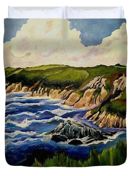 Cliffs And Sea Duvet Cover
