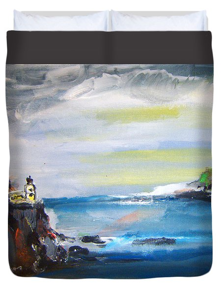Cliffs By Colleen Ranney Duvet Cover