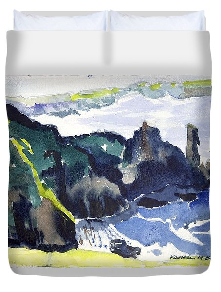 Cliffs In The Sea Duvet Cover