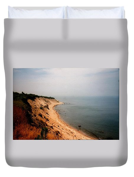 Cliffs Of Block Island Duvet Cover