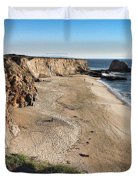 Cliffs Of Davenport Duvet Cover