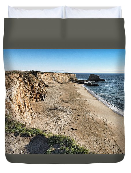 Cliffs Of Davenport Duvet Cover