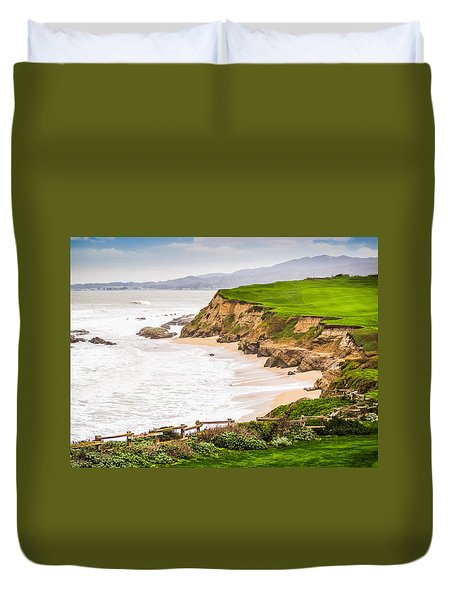 The Cliffs At Half Moon Bay Duvet Cover