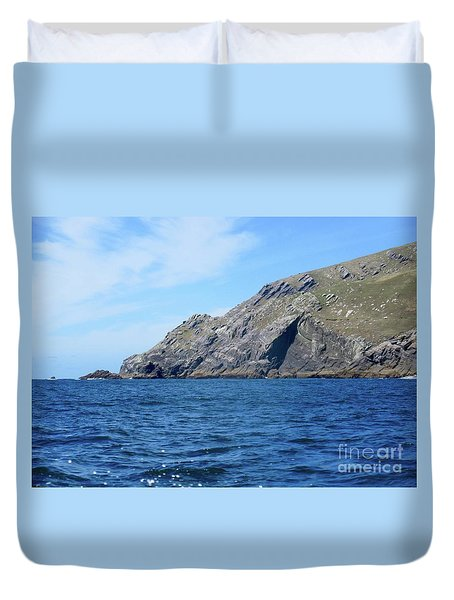 Cliffs Of Ireland  Duvet Cover