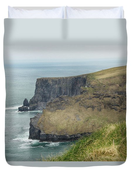 Duvet Cover featuring the photograph Cliffs Of Moher 1 by Marie Leslie