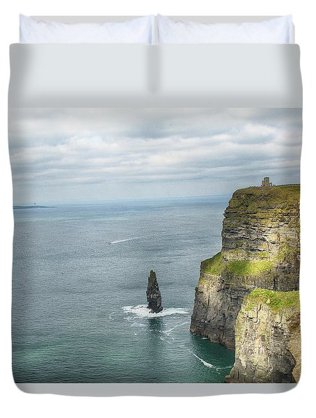 Duvet Cover featuring the photograph Cliffs Of Moher 3 by Marie Leslie