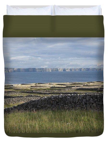 Cliffs Of Moher From Inisheer Duvet Cover