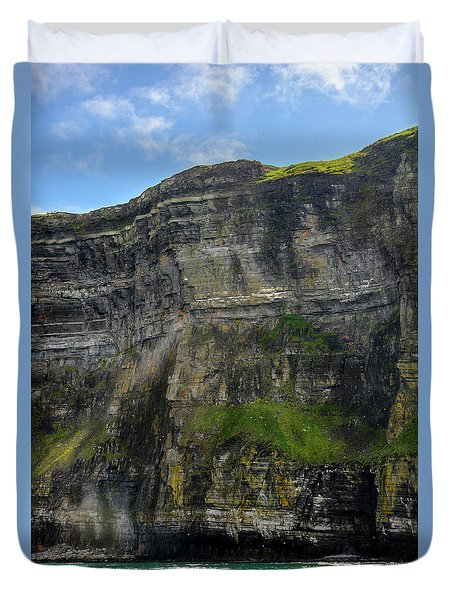 Duvet Cover featuring the photograph Cliffs Of Moher From The Sea Close Up by RicardMN Photography