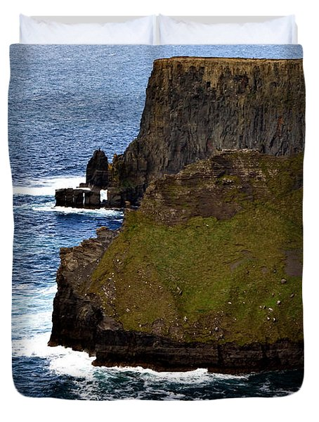 Duvet Cover featuring the photograph Cliffs Of Moher Ireland 2 by Michelle Joseph-Long
