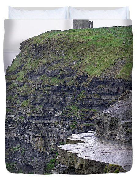 Cliffs Of Moher Ireland Duvet Cover by Charles Harden