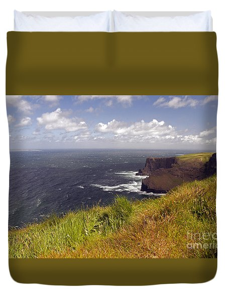 Cliffs Of Moher  Hags Head Side Duvet Cover by Cindy Murphy - NightVisions