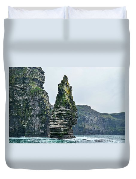 Cliffs Of Moher Sea Stack Duvet Cover