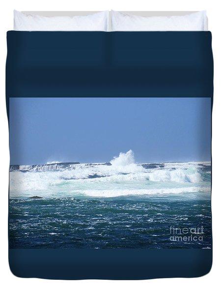 Cliffs Of The Aran Islands 2 Duvet Cover by Crystal Rosene