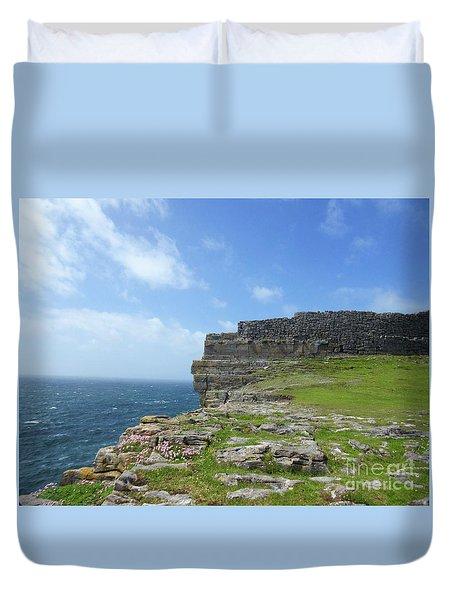 Cliffs Of The Aran Islands 3 Duvet Cover by Crystal Rosene