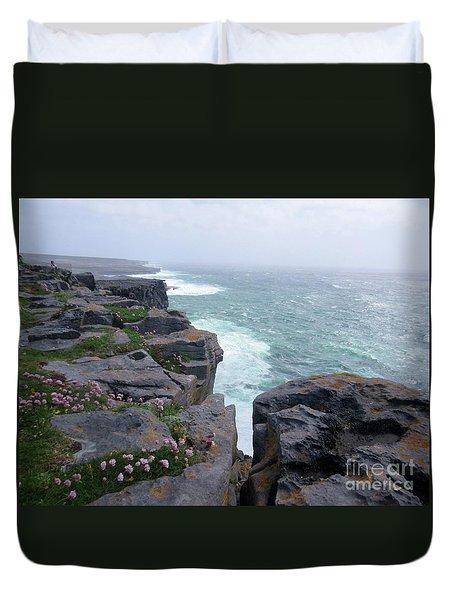 Cliffs Of The Aran Islands 4 Duvet Cover by Crystal Rosene